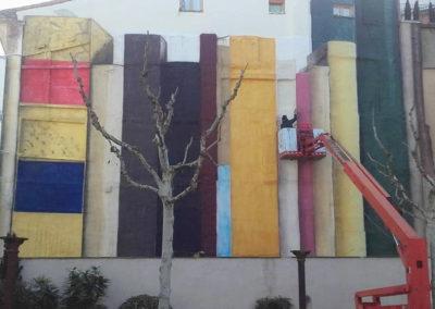 Mural en la UNED