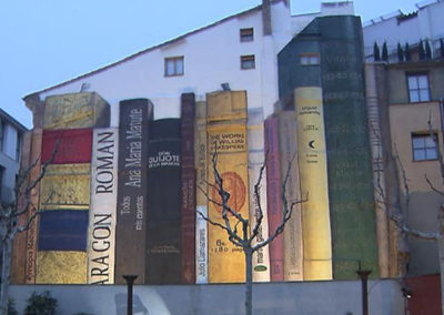 Mural en la UNED (Barbastro)