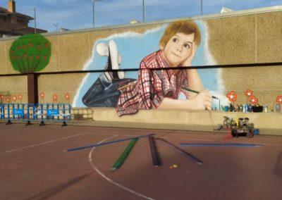 Mural Colegio de la Merced 25 Aniversario Barbastro